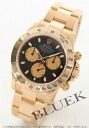 Rolex Ref.116528 Cosmograph Daytona YG pure gold black & gold mens