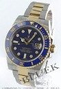 Rolex Ref.116613 Submariner date YG Combi diamond index blue mens