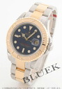 Rolex Ref.16623 sailing master YG Combi blue mens