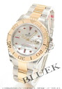 Rolex Ref.16623NGR yacht master ruby index YG combination white shell men