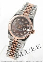 Rolex Ref.179171NG date just diamond index RG combination gray shell Lady's