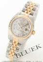 Rolex Ref.179173NG Datejust diamond index YG duo white shell ladies