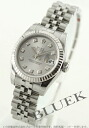 Five Rolex Ref.179174 date just diamond index WG bezel breath gray Lady's