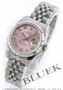 Xmas sale ★ Rolex date just Ref.179174 WG bezel pink long novel Lady's