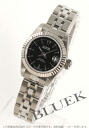 Tudor Princess date 92514 WG bezel black ladies