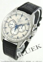 Zenith El Primero 36000 VpH chronograph tachymeter alligator leather Black / Silver mens 03.2040.400/04.C496