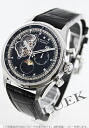 Zenith L primero Kurono master opening moon phase alligator leather black men 03.2160.4047/21.C714