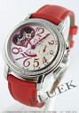 Zenith Kurono master star open heart diamond bezel satin leather red / silver Lady's 16.1230.4021/01.C538