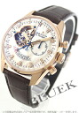 Zenith L primero Kurono master RG pure gold diamond index leather brown / white shell men 18.2080.4021/81.C713