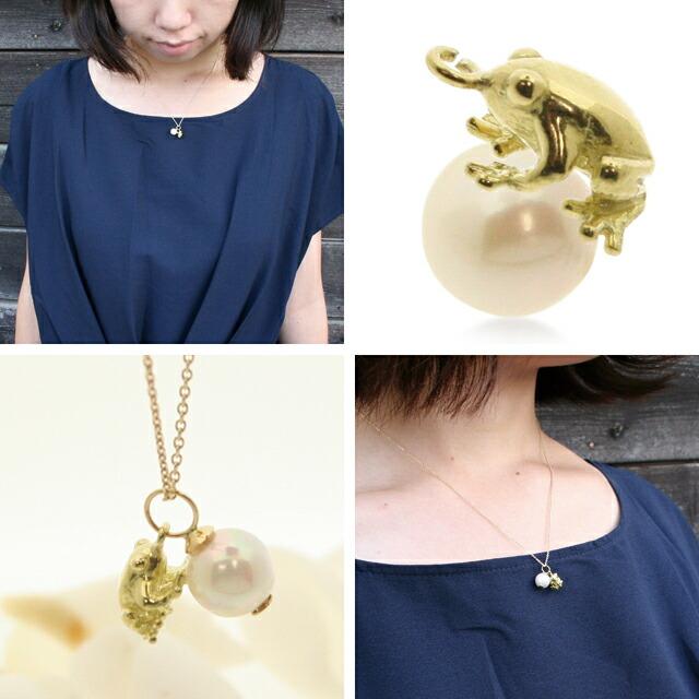 アコヤ真珠ネックレス k18 ゴールドネックレス チャーム