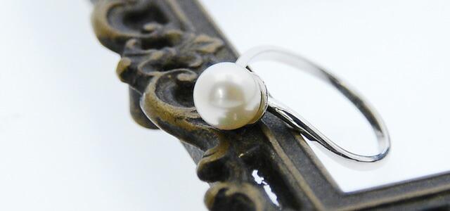 パールリング アコヤ真珠 リング 指輪