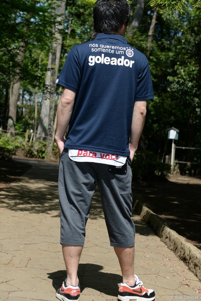 ゴレアドール/goleador ポロシャツ ダブルフェイス綿&ポリワンポイント刺繍ポロシャツ