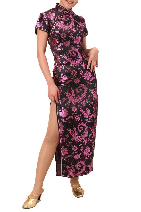 チャイナ服 チャイナドレス 5サイズ有り 半袖ロング 半袖ショート 袖無しロング c07コスプレ♪コスチューム衣装♪メイド♪AKBアキバ