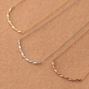 Metal allergy-friendly nickel-free ◆ Bonaventure (ボナバンチュール) women's elegance twist-string shape necklace & pendant popularity the translated and! try it! review posted in 2014 gift