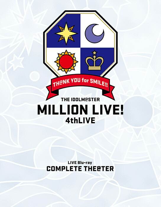 THE IDOLM@STER MILLION LIVE! 4thLIVE TH@NK YOU for SMILE! LIVE Blu-ray COMPLETE THE@TER[LABX-38245/8][Blu-ray/ブルーレイ]