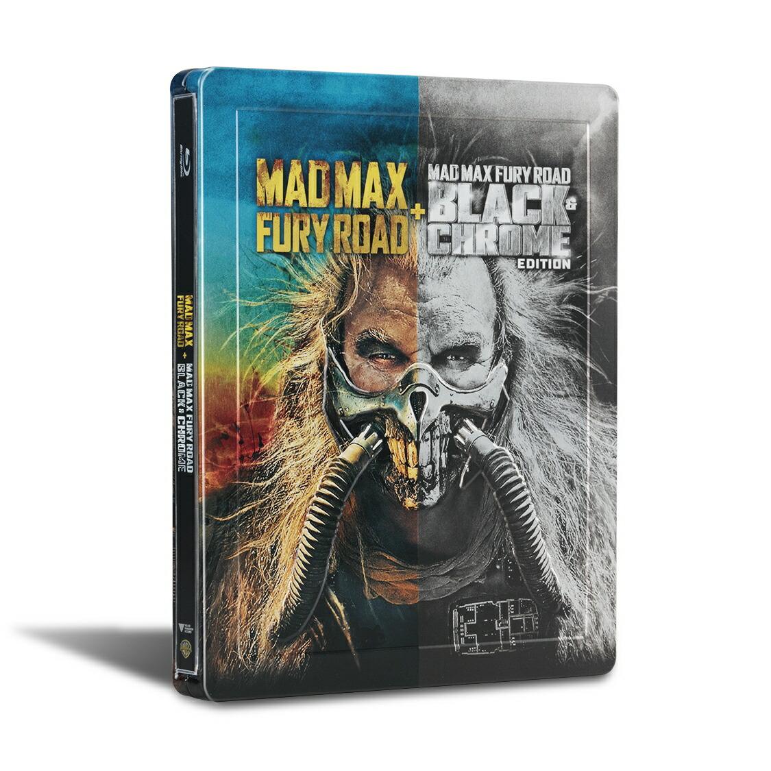 【数量限定生産】マッドマックス 怒りのデス・ロード<ブラック&クローム>エディション ブルーレイ スチールブック仕様[1000701743][Blu-ray/ブルーレイ] 製品画像