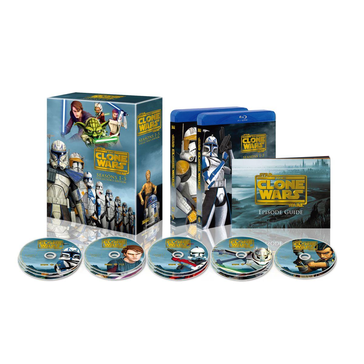 スター・ウォーズ:クローン・ウォーズ シーズン1-5 コンプリート・セット[1000582323][Blu-ray/ブルーレイ]