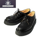 3588 authorized agent George Cox( George coxswain) rubber sole VI-sole black leather Boletopsis leucomelas fs3gm