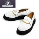 13851 regular dealer GeorgeCox George coxswain rubber sole Buxton Chain Casual Buxton chains casual White white fs3gm