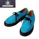 666 authorized agent George Cox( George coxswain) rubber sole D rubber sole Dace V GIBSON double name turquoise blue suede fs3gm
