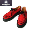 3588 authorized agent George Cox( George coxswain) rubber sole VI-sole red suede red leather lining fs3gm