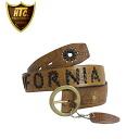 Regular manual HTC #HWV-CALIFORNIA WOVEN BELT woven belt L.BROWN Brown