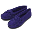 Postage, collect on delivery fee free of charge MINNETONKA( Mine Tonka) Kilty Suede Moc( kill Thijs Wade mock) #409F BLUE VIOLET Lady's MT355 in regular dealer Japan
