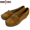Postage, collect on delivery fee free of charge MINNETONKA( Mine Tonka) Kilty Wedge( kiltie wedge) #412 BROWN Lady's MT327 in regular dealer Japan