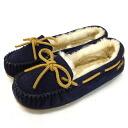 Regular handling shop Japan domestic shipping COD fees free MINNETONKA (Minnetonka) Pippa Sheepskin Slipper (slippers Sheepskin Pippa) #42024 DARK NAVY ladies MT367