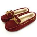 Regular handling shop Japan domestic shipping COD fees free MINNETONKA (Minnetonka) Pippa Sheepskin Slipper (slippers Sheepskin Pippa) #42025 CRANBERRY women's MT368