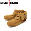 Postage, collect on delivery fee free regular dealer MINNETONKA( Mine Tonka) Concho Feather Side Zip Boot( concho feather side zip boots )#527T TAUPE Lady's MT047fs3gm