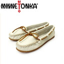 Regular dealer MINNETONKA( Mine Tonka) BOAT MOC( boat mock) #611S OFF WHITE Lady's MT155fs3gm