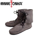 Regular dealer MINNETONKA( Mine Tonka )Tramper Ankle Hi Boot( tramper ankle high boots )#421T GREY Lady's MT024fs3gm