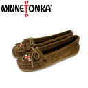 Regular dealer postage, collect on delivery fee free of charge MINNETONKA( Mine Tonka )Thunderbird II( Thunderbird II)#603 DUSTY BROWN SUEDE Lady's MT172fs3gm