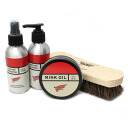 Four points of boots care set types 1 (mink oil, protector, cleaner, brush) for regular dealer RED WING( red wing) ornamental leather covering the metal parts of armor