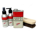 Four points of boots care set types 3 (boots oil, protector, cleaner, brush) for regular dealer RED WING( red wing) ornamental leather covering the metal parts of armor