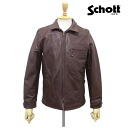 Regular dealer SCHOTT( shot) CLASSIC TRACK JACKET( classical music truck jacket) BROWN brown fs3gm