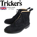 Regular handling shop Tricker's trickeries 2508M COUNTRY BROGUE (カントリーブローグ) double leather sole ブラックレペロ suede TK013fs3gm