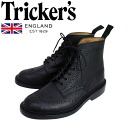 Regular handling shop Tricker's trickeries 2508M COUNTRY BROGUE (country blog) double leather sole black Scotch grain TK015