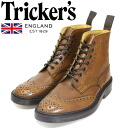 Japan domestic shipping COD fees free regular handling shop Tricker's trickeries 2508M COUNTRY BROGUE (country blog) double leather sole beechnutburnish TK028