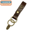 Regular dealer VASSER( Vassar )1Step Classic Leather Key Chain Brown( one grade classical music leather key chain brown)