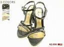 Python embossed x rhinestone sandals