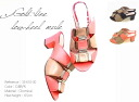 By color low heel sandals Lady's shoes / sandals / by color / low heel / gold line