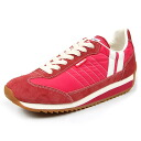 PATRICK Patrick mens Womens sneakers MARATHON Marathon CORAL 94517 [Red / pink / nylon and velour and national authorized dealer]