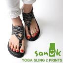 Sanuk Sanuk Womens Sandals YOGA SLING 2 PRINTS Yoga Sling 2 Prinz BLACK/NATURAL CONGO SWS10535-BNCN [Black / straps / Yoga mat / domestic regular sale shop / tribal]