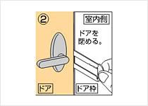 施錠方法 2