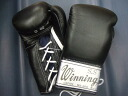 Winning in stock 8-ounce boxing gloves rare old ロゴシルバー label black