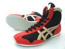 アシックスショート boxing shoes America-ya original color black x red x Gold