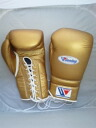 LIMITED item in stock  Winning Boxing glove (professional type) 16 oz lace up in GOLD