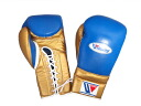Limited item SPECIAL PRICE  Winning boxing glove (professional type) 14 oz  in blue X gold